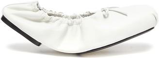 KHAITE 'Ashland' elasticated throat bow tie ballerina flats