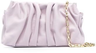 Elleme Vague ruched leather shoulder bag