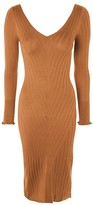 Topshop Rib V-Neck Midi Dress