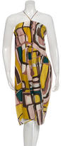 Marni Silk Abstract Print Dress