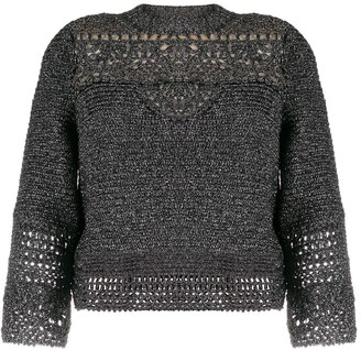 Alberta Ferretti Cropped Sleeve Sweater