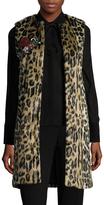Alice + Olivia Women's Jade Faux Fur Vest