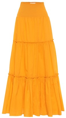 Tory Burch Tiered cotton maxi skirt