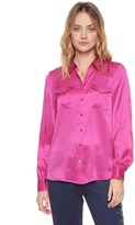 Juicy Couture Silk CHARMEUSE BLOUSE