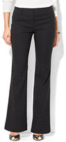 New York & Co. 7th Avenue Design Studio - Bootcut Pant - Modern - Leaner Fit - Tonal Plaid