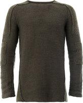 Masnada deconstructed jumper - men - Linen/Flax/Polyamide/Spandex/Elastane/Wool - S