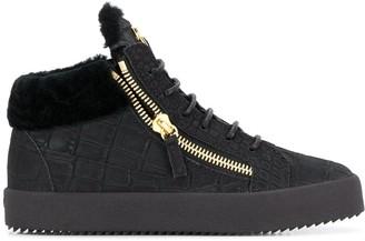Giuseppe Zanotti Kriss crocodile embossed sneakers