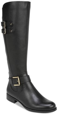 Naturalizer Jessie Leather Wide Calf Riding Boots Women's Shoes