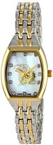 Game Time Women's COL-WCL-KAN World Class Two-Tone Stones Analog Display Japanese Quartz Silver Watch