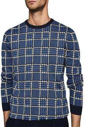 Reiss Palmer Jacquard Check Sweater