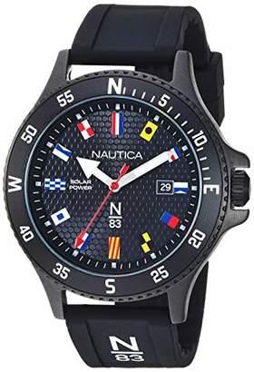 Nautica N83 Men's NAPCBS907 Cocoa Beach Solar Silicone Strap Watch