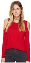 Kensie Subtle Slub Tees Top KS2K3386 Women's T Shirt