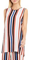 Vince Camuto Women's Multi Stripe Sleeveless Tunic