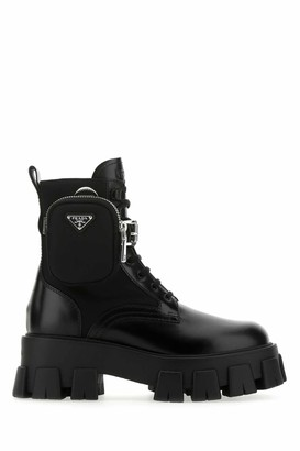 Prada Strapped Pouch Boots
