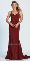 Dave and Johnny Sweetheart Spaghetti Strap Fitted Evening Dress
