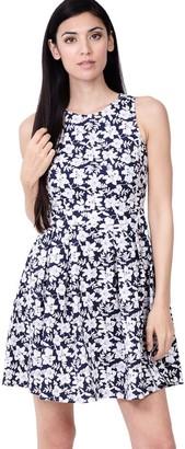 M&Co Izabel floral high neck dress
