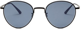 The Row X Oliver Peoples Brownstone Round Metal Sunglasses - Dark Blue