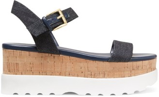 MICHAEL Michael Kors Marlon Denim Cork Flatform Sandals