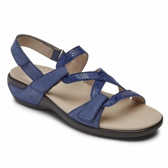 Aravon womens Power Comfort S Strap Sandal Blue Multi 9 Narrow