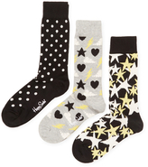 Happy Socks Dotted, Stormy & Starry Socks (3 PK)