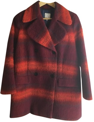 Stella Jean Red Wool Coats