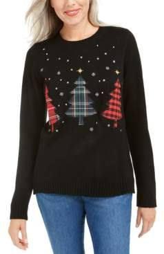 Karen Scott Petite Triple Christmas Tree Sweater, Created For Macy's