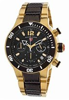 Swiss Legend Men's 'Sharkarma' Swiss Quartz Stainless Steel Casual Watch, Color:Two Tone (Model: 14083SM-YG-11-BB)