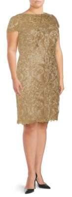 Plus Lace Short-Sleeve Dress