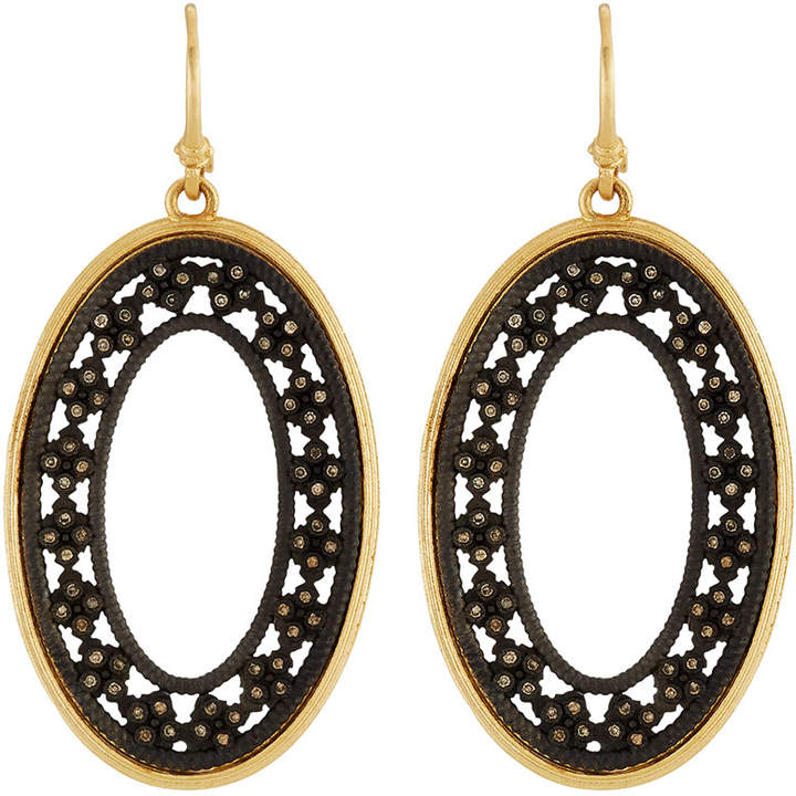 Armenta Crivelli Two-Tone Diamond Oval Earrings
