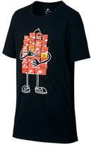Nike Boys' Sportswear Sneaker T-Shirt, Black