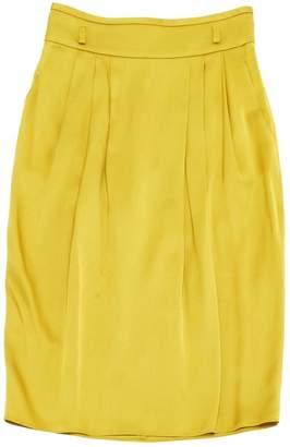 Gucci Yellow Silk Skirts