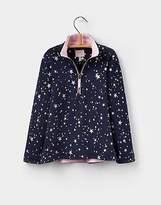 Joules Girls Fairdale Half Zip Funnel Neck Sweatshirt 3-12 years in Star