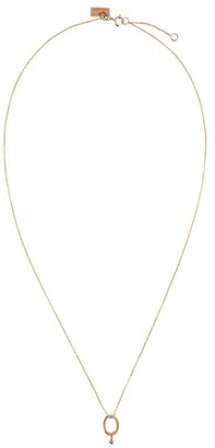VANRYCKE Rose Gold Abecedaire Letter O Necklace