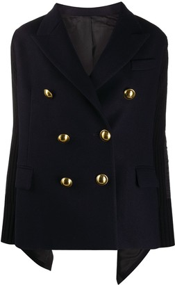 Sacai Draped-Back Double Breasted Military Jacket