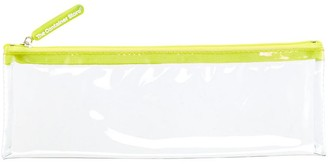 Container Store Medium Green Zippered Clear Pouch