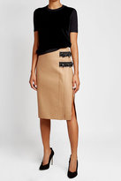N°21 N21 Embellished Skirt with Wool and Cashmere