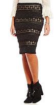 M.S.S.P. Stretch Lace Pencil Skirt