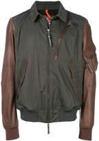 Parajumpers contrast panel zip jacket
