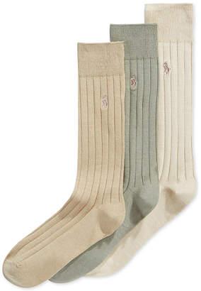 Polo Ralph Lauren Men Three-Pack Crew Socks