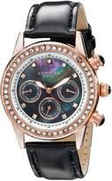 Akribos XXIV Women's AK556BKR Multi-Function Dazzling Strap Watch