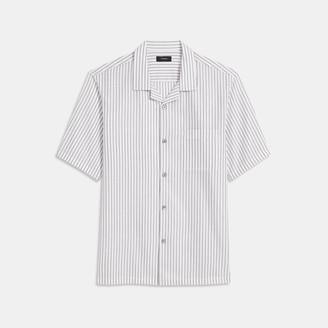 Theory Daze Short-Sleeve Shirt in Pinstripe Cotton