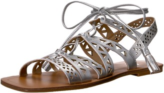 The Fix Amazon Brand Women's Farrell Triangle-Cutout Square Toe Flat Dress Sandal
