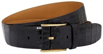 Zilli Leather Crocodile Print Belt