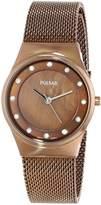 Pulsar Women's PH8055 Analog Display Japanese Quartz Brown Watch