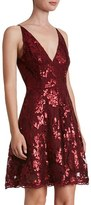 Dress the Population Women's 'Morgan' Sequin Lace Fit & Flare Dress