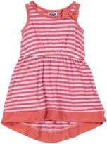 Erge Spandex Dress (Baby) - White/Pink-24 Months