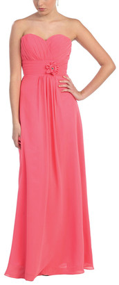 Mayqueen MayQueen Women's Special Occasion Dresses Coral - Coral Floral-Waist Sweetheart Dress - Women & Plus