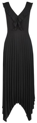 Dorothy Perkins Womens Luxe Black Pleat Hanky Hem Dress, Black
