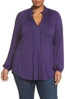 Melissa McCarthy Plus Size Women's Tie Neck Top