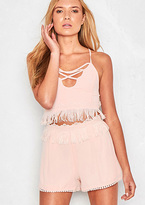 Missy Empire Sara Pink Tassel High Waisted Shorts